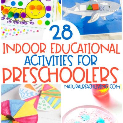 30+ Indoor Educational Activities for Preschoolers