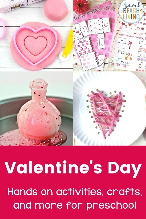 The Best Valentines Day Preschool Theme Activities, including Valentines Day Theme Art and Valentine Playdough, Valentine's Day Literacy Activities, Math activities, and more. Valentine Activities for Preschoolers make perfect February Preschool Activities with heart shape activities for preschoolers and the best Valentine Books for preschoolers