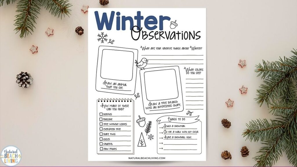 This is The Best Winter Nature Study for Kids, Full of Complete Nature Theme Lesson Plan Ideas with Nature Books for Kids, Free Nature Study Worksheet, Study of Nature, winter nature activities, A mix of Science and Nature Studies, Nature Tables. Perfect for Charlotte Mason, Montessori, and Outdoor Learning.