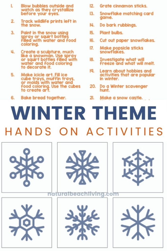 You and Your kids will Love these Montessori Activities for Winter, A complete list of winter activities and a free Snowflake Matching Game for your preschoolers, kindergarteners, and early elementary children, Use this for hands on learning, an educational bucket list, or for your Montessori education, Montessori Preschool Activities