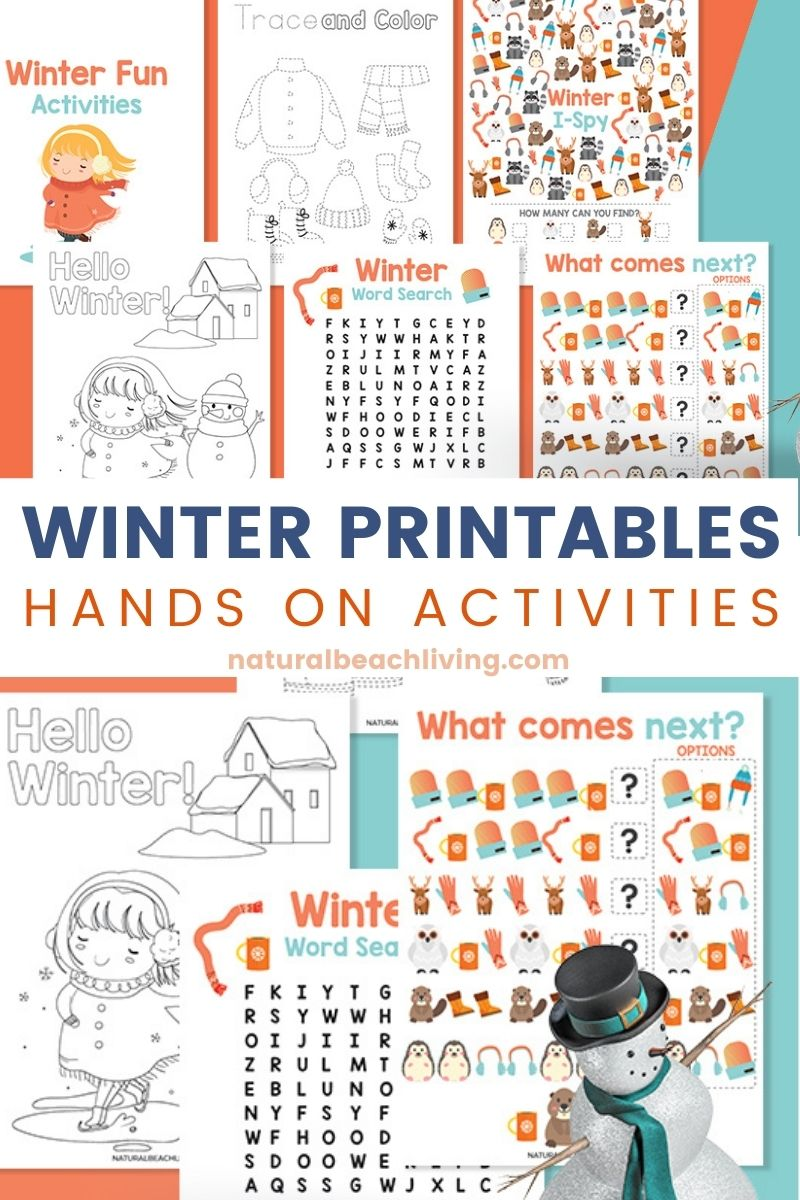 Free Winter Printables for Preschool and Kindergarten