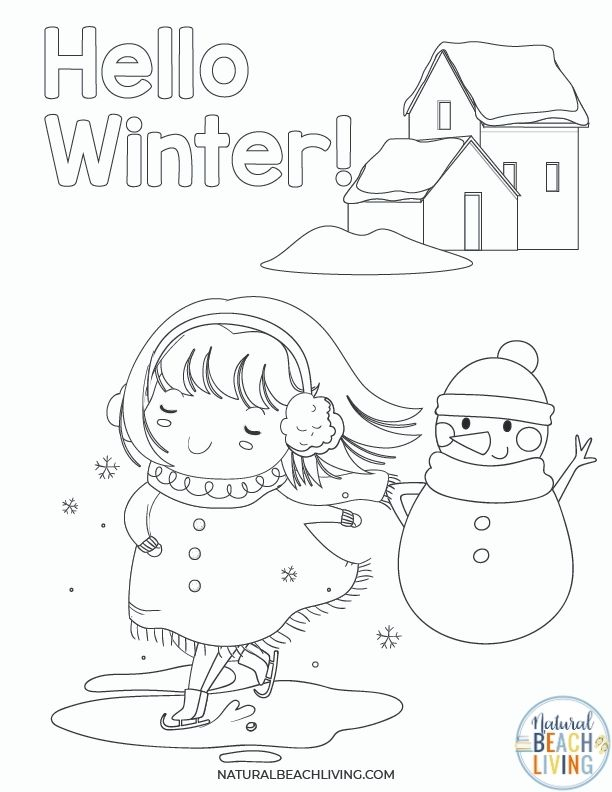 Free Winter Printables for Preschool and Kindergarten that include Fun Winter Printables and free printable winter worksheets for preschool. Coloring pages, Math activities, fine motor skills practice, Winter Theme and free winter activities for preschoolers