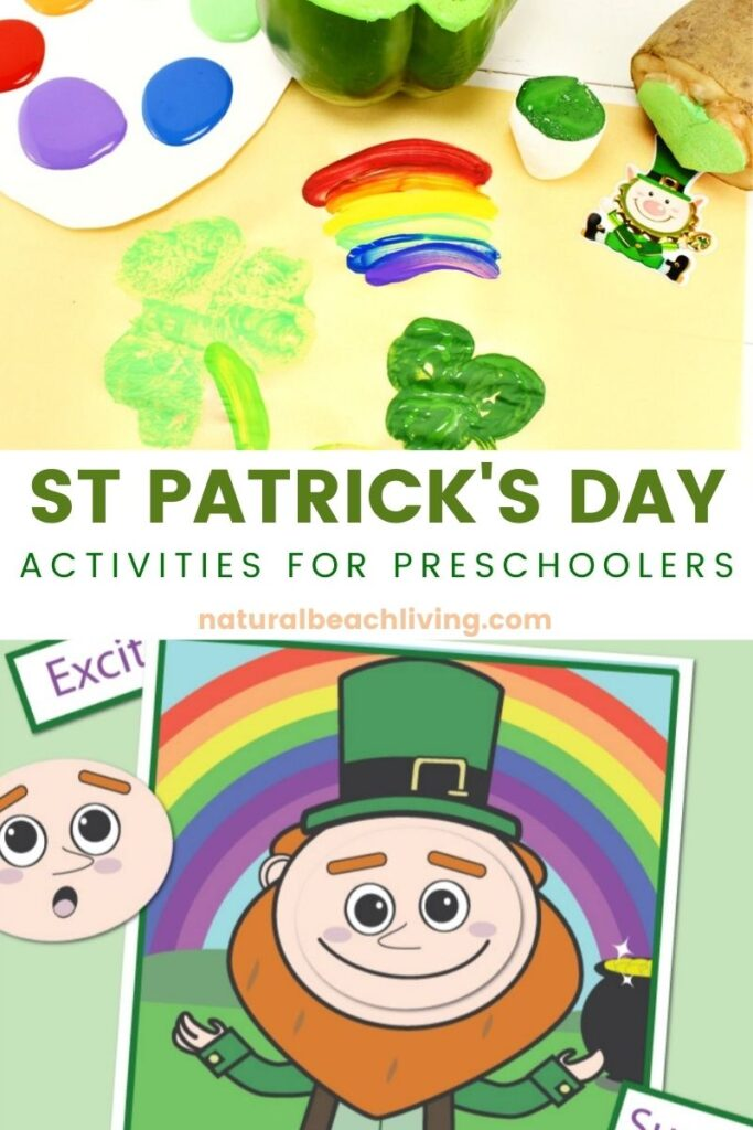 ST PATRICK DAY ACTIVITIES FOR PRESCHOOLERS. ST. PATRICK'S DAY SENSORY BOTTLES. ST. PATRICK'S DAY PRESCHOOL THEME AND LESSON PLANS. Fun St Patrick's Day Games and Activities. St Patrick's Day Learning Activities, Preschool STEM, Crafts, Literacy activities, books, and more. PRESCHOOL ST PATRICK'S DAY ACTIVITIES.