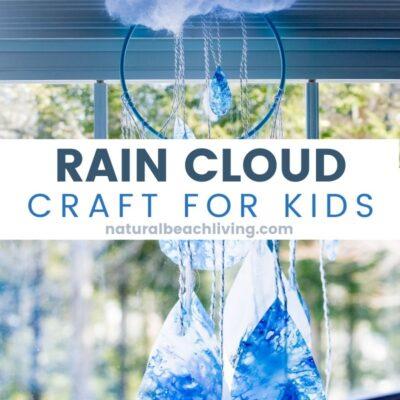 Recycled Crayon Rain Cloud Craft