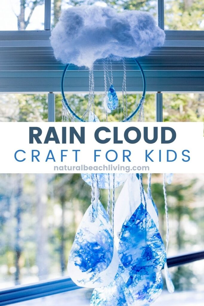 Teaching children about weather helps reinforce the seasons which helps to explain rain, rainbows, clouds, and so much more. And this Recycled Crayon Rain Cloud Craft and Cloud Activities for Preschoolers make great Weather Activities, Weather Theme, Use Recycled Materials for Recycled Crafts for an Earth Day Craft