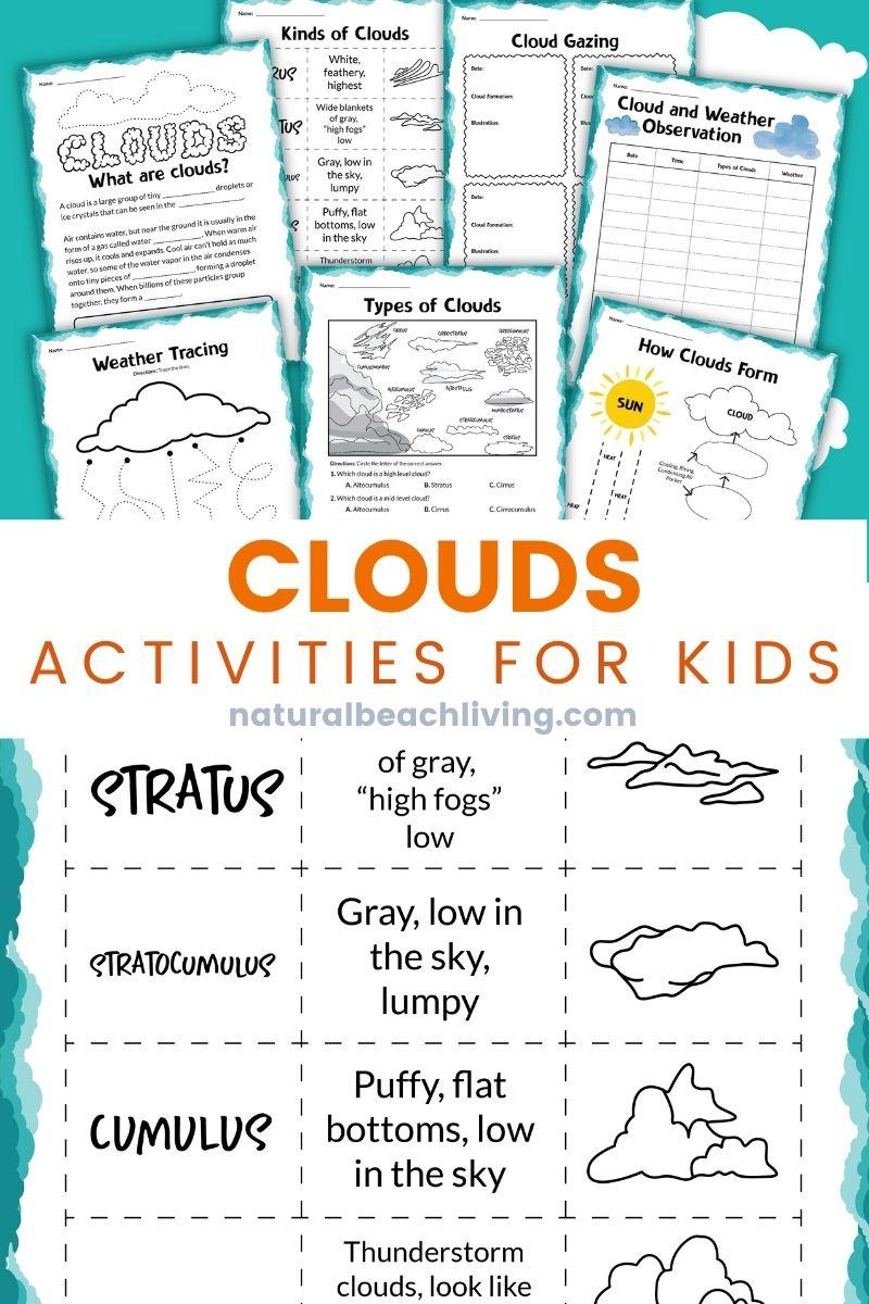 Clouds Activities for Kindergarten and Types of Clouds Activities