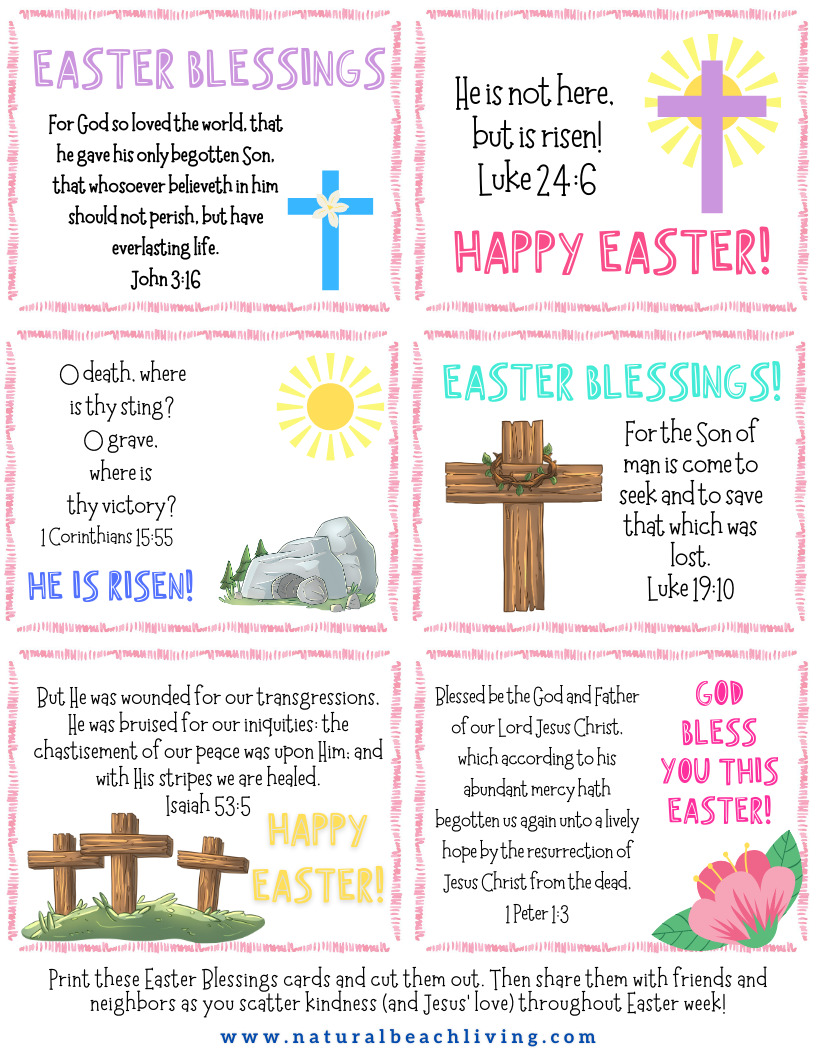 Encourage your kids to participate in Easter Week Acts of Kindness Ideas for friends, family, and people in the community. Use this Kindness Ideas Poster and these great Kindness Activities to teach your children kindness and share Kind Acts this Spring