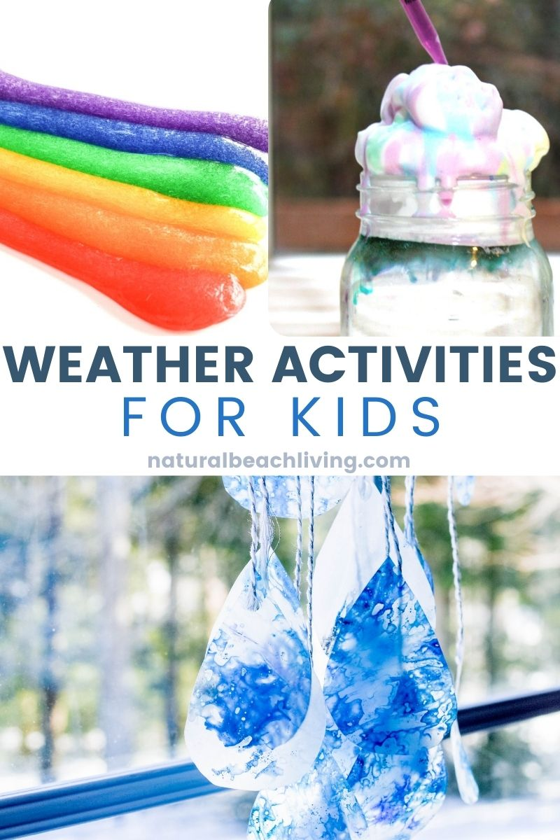 simple yet educational activities to learn all about weather and clouds, lots of weather themed science experiments and great STEM activities for your preschooler to learn all about the weather!