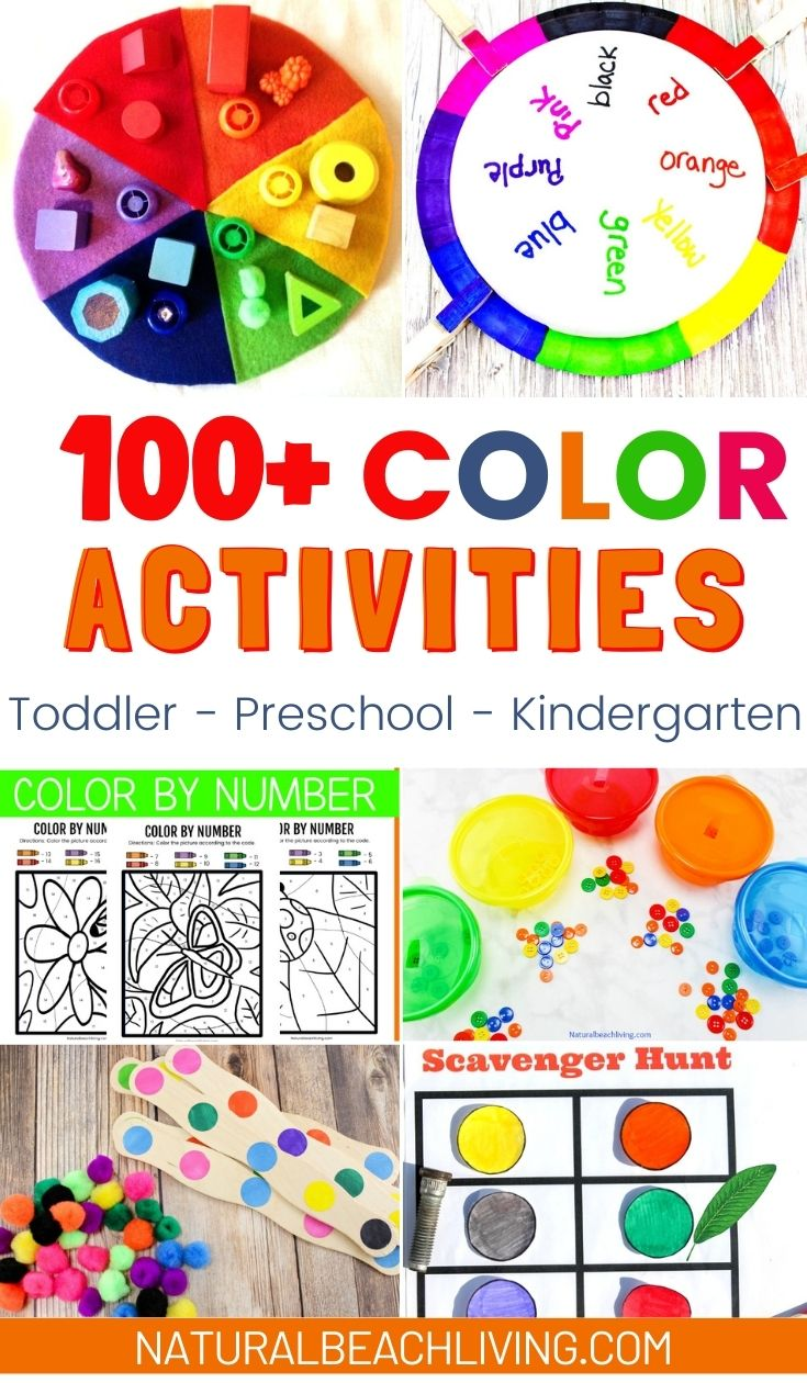 Fun Educational Color Activities for toddlers and preschool, Color Activities for Hands on Learning, Teaching Colors Activities, There are so many ways to make learning colors fun for kids. From color sorting activities to color games, color scavenger hunts, crafts, art activities, sensory play and other fun activities to teach colors.
