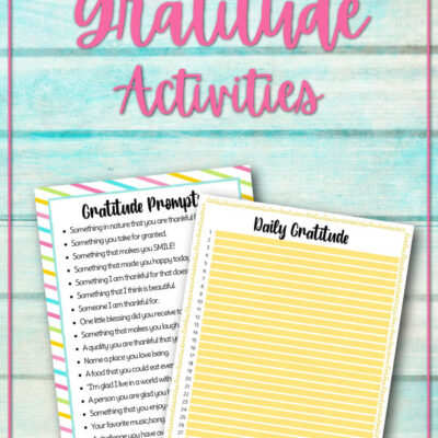 Gratitude List Ideas – Printable Gratitude Prompts and Daily Journal