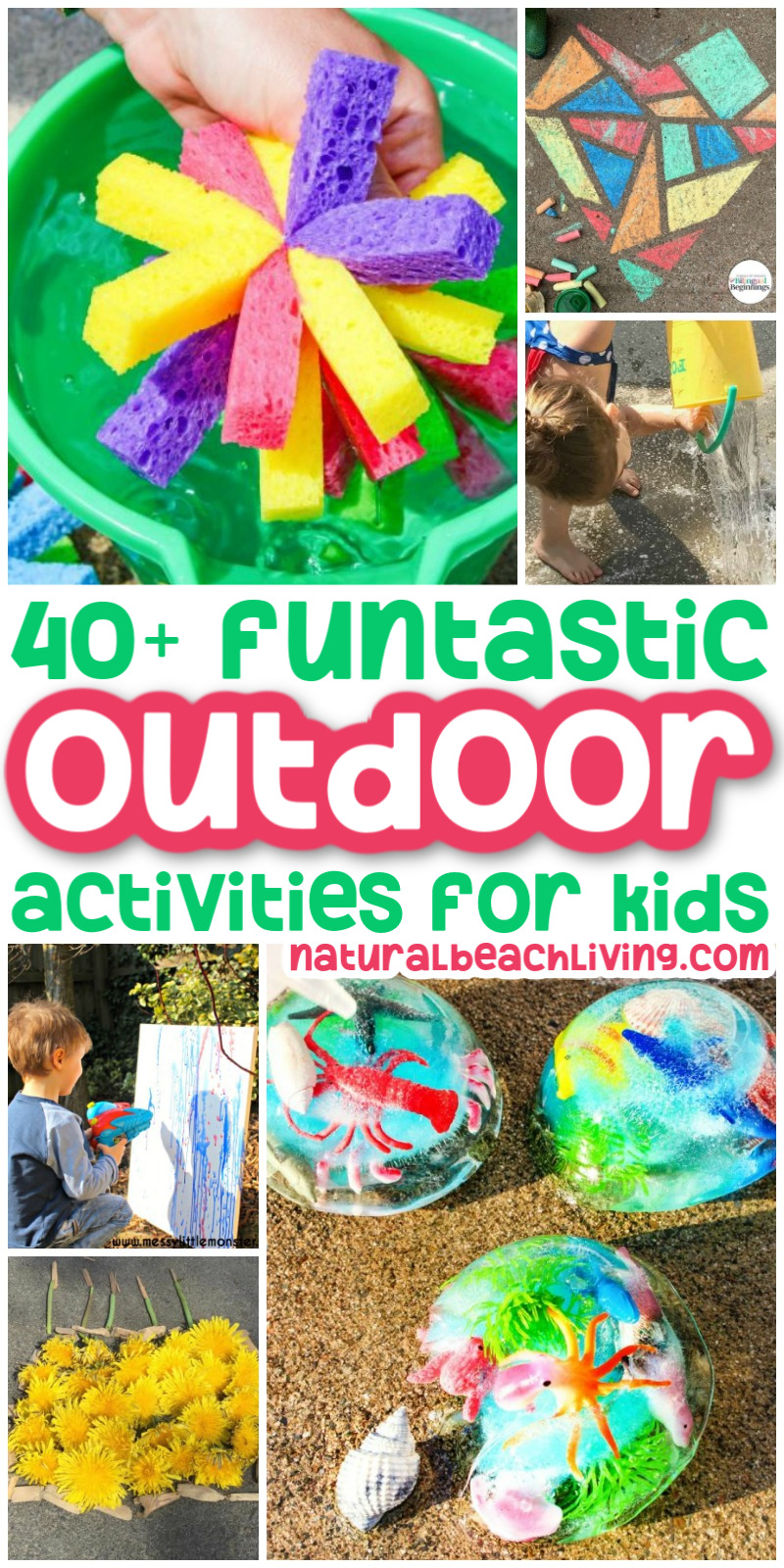 Help your kids unplug and get moving with more than 40 outdoor activities for kids. Many of these activities are cheap or free, so you don't have to break the bank to keep your kids entertained. Getting outdoors is also an excellent way to spend time together as a family. Spring Activities and Summer Activities Kids will love.