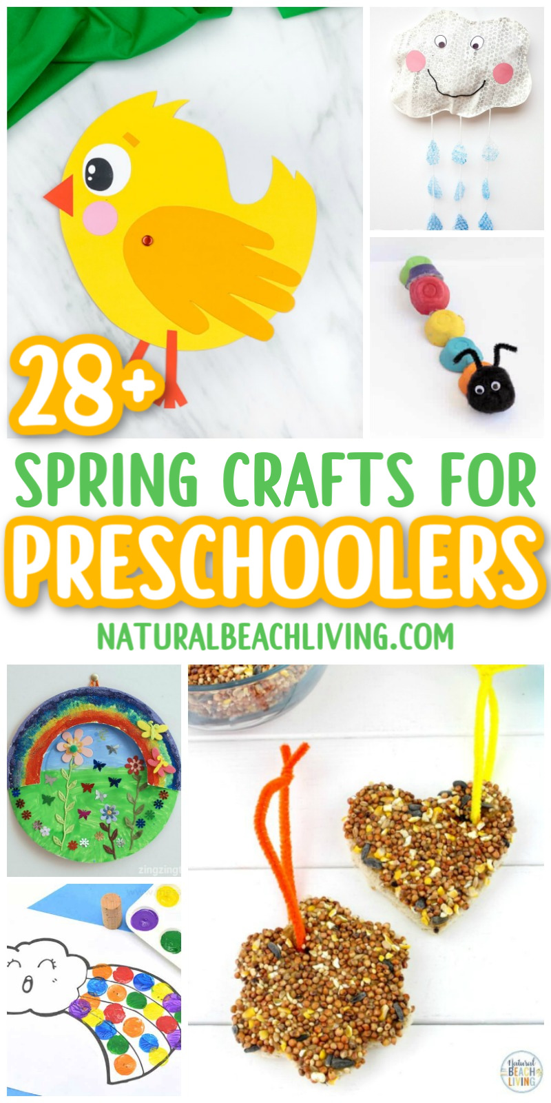 Over 30 Spring Preschool Crafts to give your kids inspiration! Springtime is the perfect time to plan a few craft projects. You'll find bird themed crafts, flower projects, ladybug crafts, rainbow crafts, and so much more. With lots of bright colors and fun spring themes.