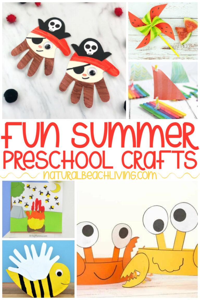 34+ Summer Preschool Crafts – Summer Art and Craft Activities