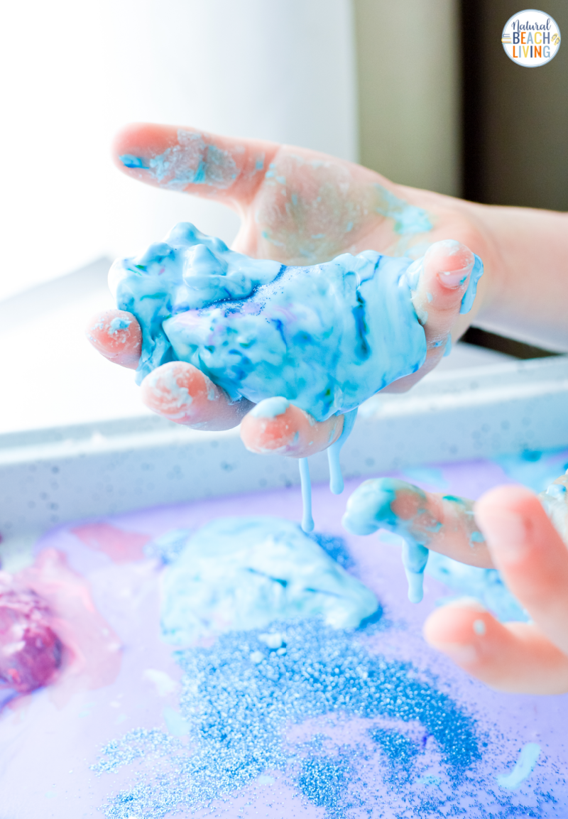 Your kids will love exploring space and science with oobleck sensory play. Here you'll find tons of great ideas for including galaxy oobleck in your Space Theme lessons this year. See how to Make Oobleck for a fun Space Activity