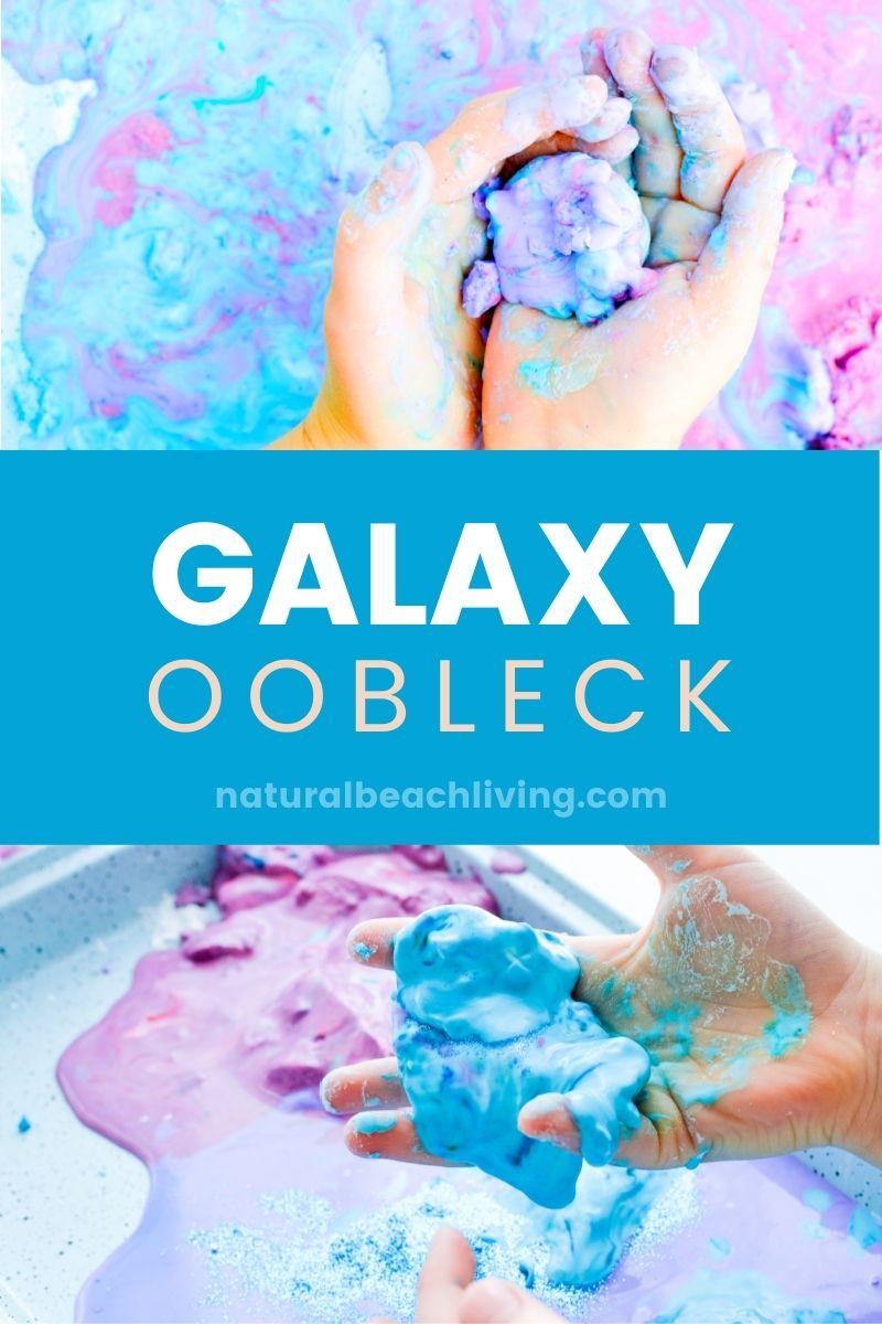 Galaxy Oobleck Easy Science Activities