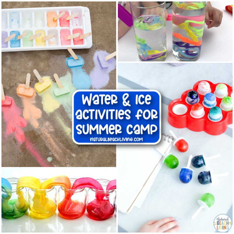 With these Water and Ice Summer Camp Activities, kids can have fun and learn at the same time. From summer sensory bins to fascinating summer science experiments, to water games, this Summer Camp Theme will fill their days with fun in the sun while keeping cool.