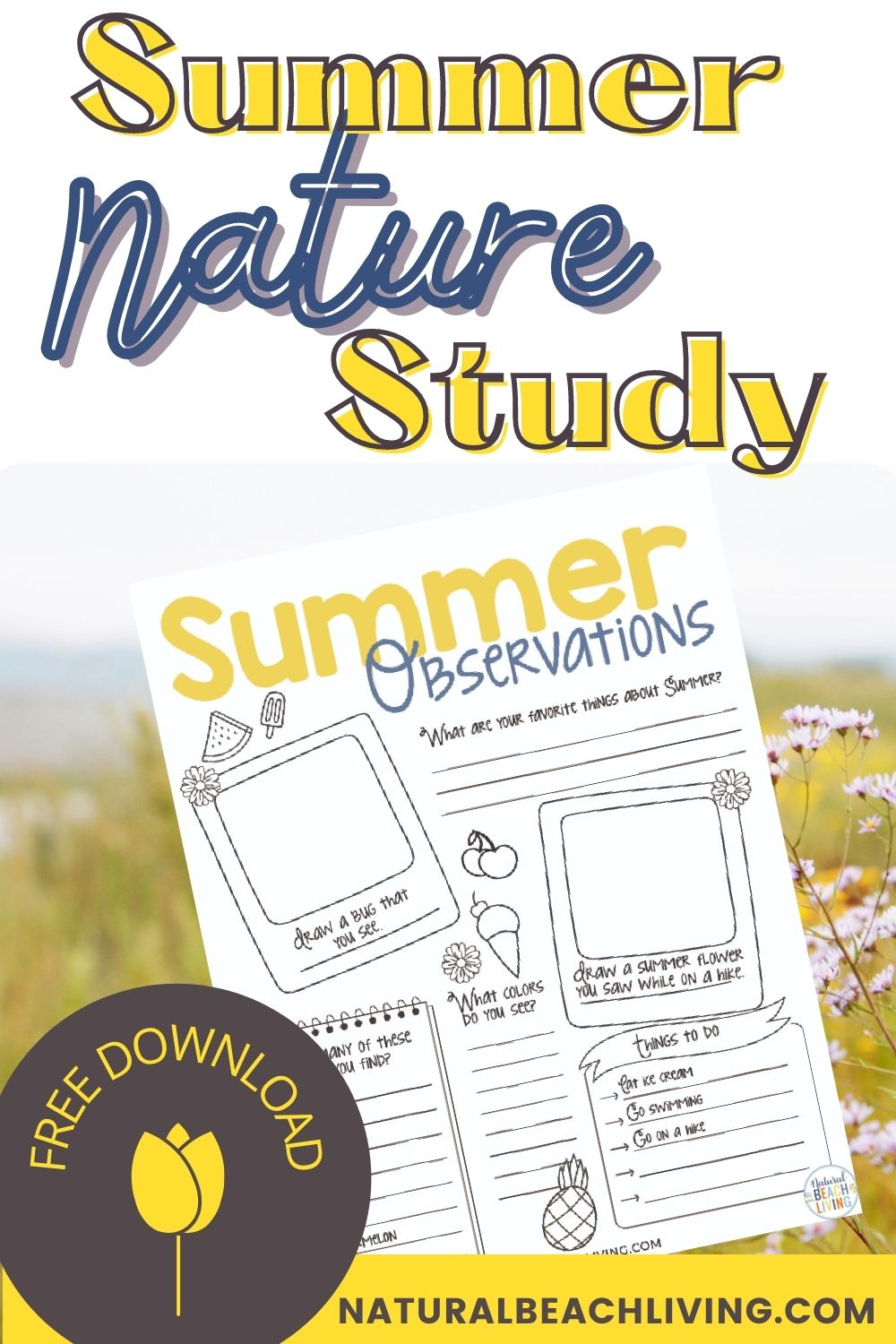 Summer Nature Study for Kids