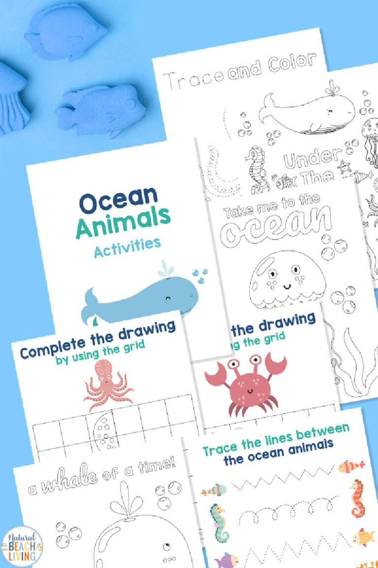 Ocean Animals Activities Free Printables Pack