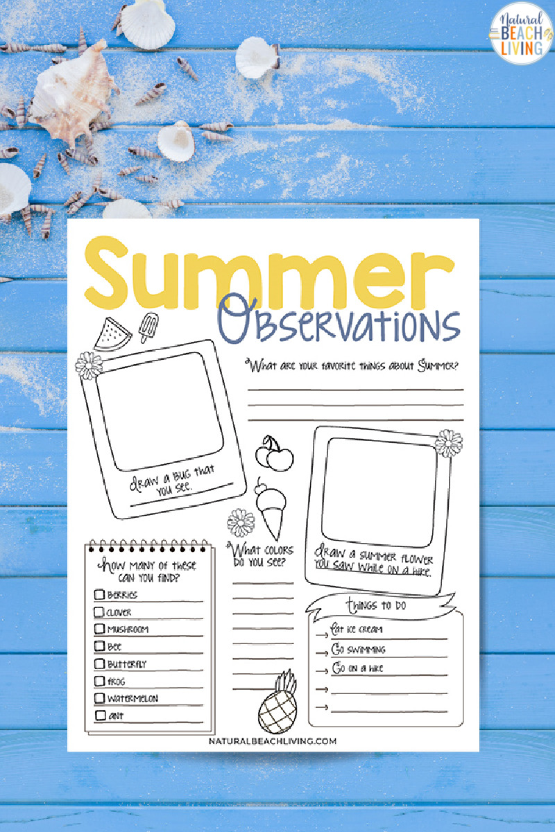 Summer Nature Study for Kids, Studying nature together is a great way to learn about the natural world, the wildlife in your own backyard, and how you can participate in efforts to save local ecosystems. Free Nature Observation Worksheet for home and classroom