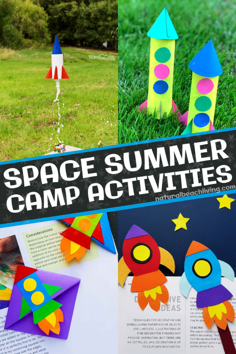 Kids will love these Space Summer Camp Theme Activities that are fun and educational activities. From learning about the phases of the moon to making galaxy Oobleck, space slime, homemade galaxy playdough, space crafts, and more. Plus, they'll have tons of fun with their friends while they learn with a space theme!