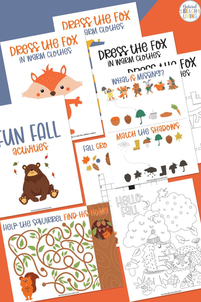Fall Activities for Kindergarten – Free Fun Fall Printables