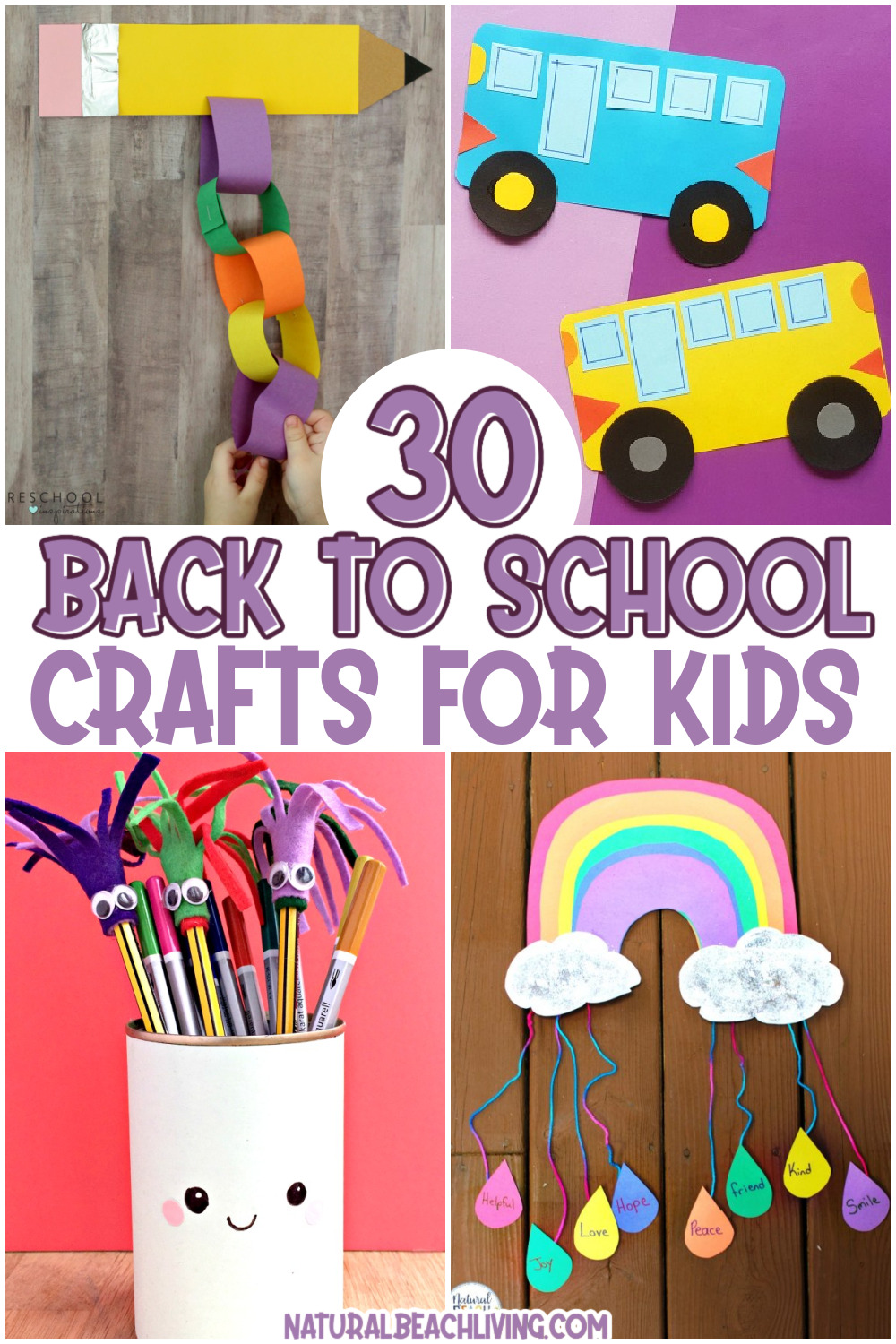 30+ Easy Back to School Crafts for Kids
