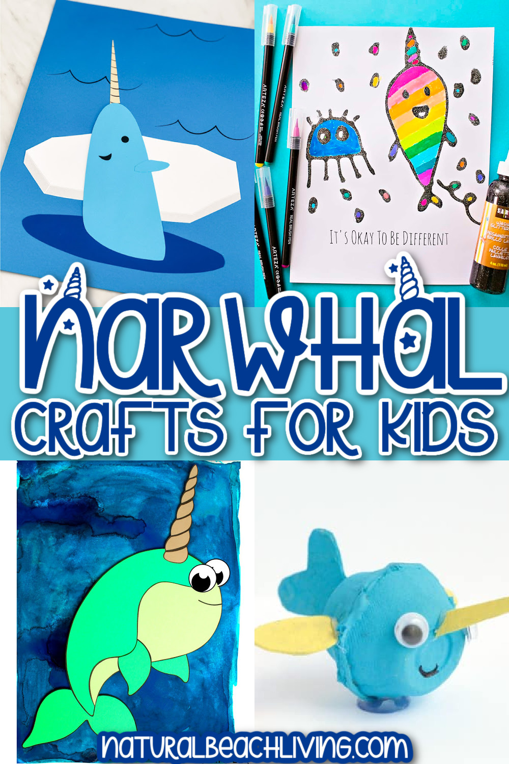 13+ Narwhal Crafts for Kids – Easy and Super Cute