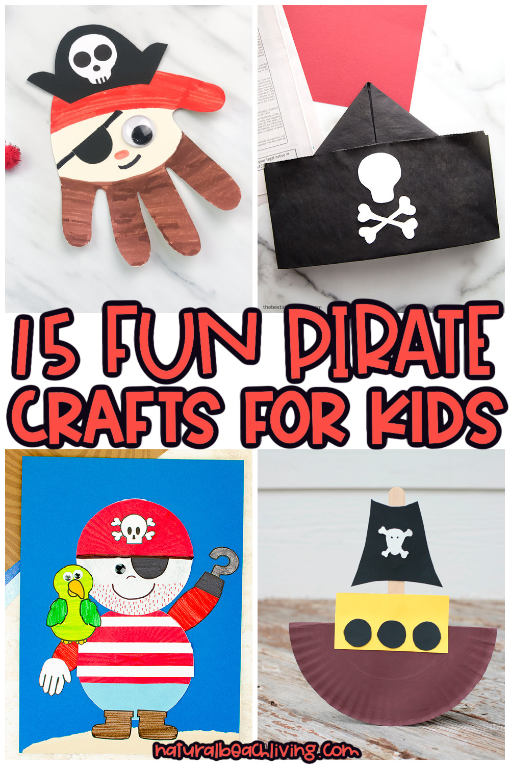 15+ Pirate Crafts for Kids – The Best Crafts and Activities